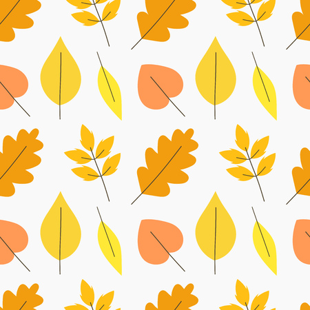 Autumn leaves pattern. Vector illustration background Illustration