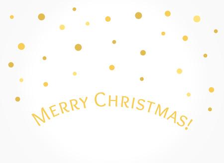 Golden snow dots Christmas card background. Vector illustration