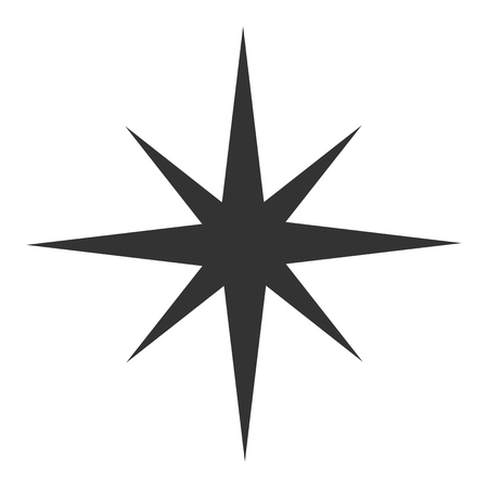 Black star icon. Vector illustrtation Stock Illustratie