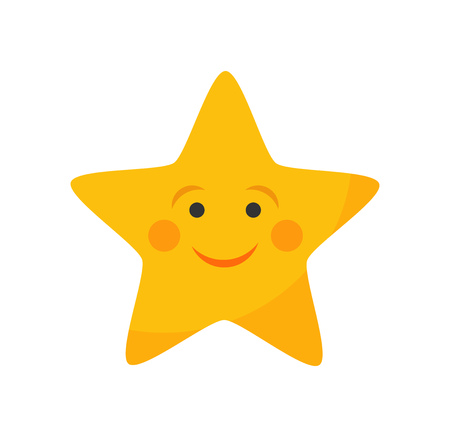 Cute star with smile. Vector illustration Illustration