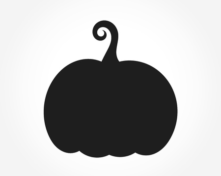 Black pumpkin shape icon. Vector illustration