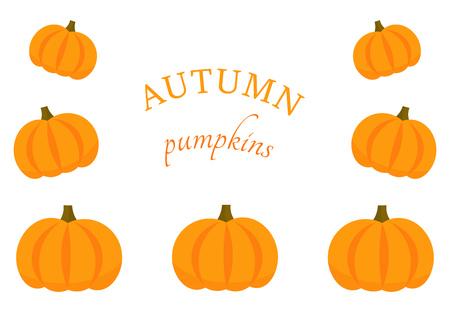 Pumpkins border background. Vector illustration Illusztráció