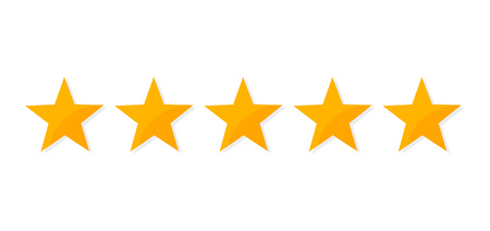 Five stars rating icon. Vector illustration.