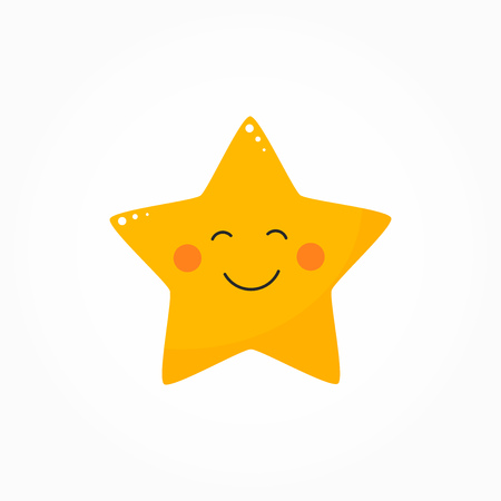Cute star with smile icon. Vector illustration Stock Vector - 112450877