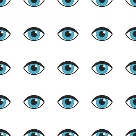 Blue eyes seamless pattern. Vector illustration. Banque d'images - 112450879