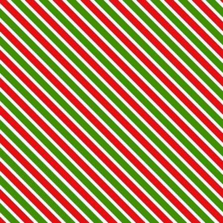 Patrón geométrico de rayas rojas y verdes. Fondo de Navidad.