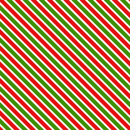 Red and green stripes geometric pattern. Christmas background. Illustration