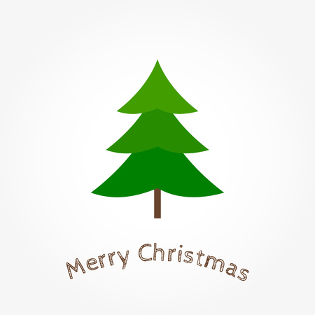 Christmas tree icon greeting card. Vector illustration. Illustration