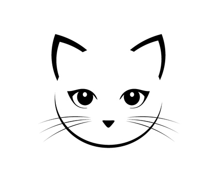 Cute cat face. Vector illustration. Illustration