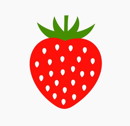 Strawberry fruit icon. Simple flat design vector illustration.