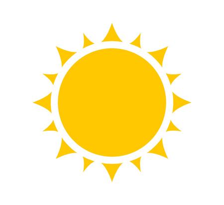 Sun icon, symbol or logo. Simple design element.
