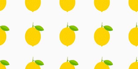 Lemons yellow seamless pattern. Vector illustration.