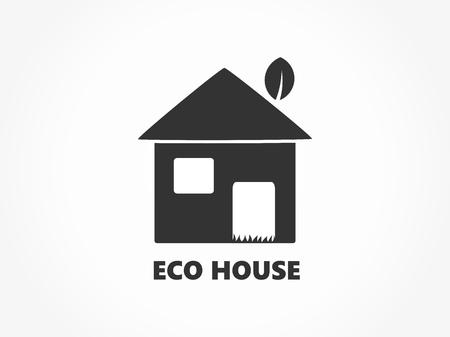 Eco friendly house icon. Vector illustration.