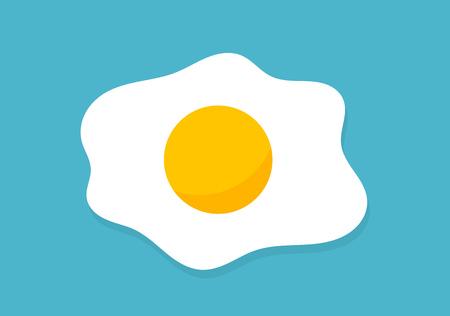 Fried egg icon. Vector illustration. 向量圖像