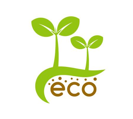 Eco seedling plants symbol, logo concept icon. Vector illustration.