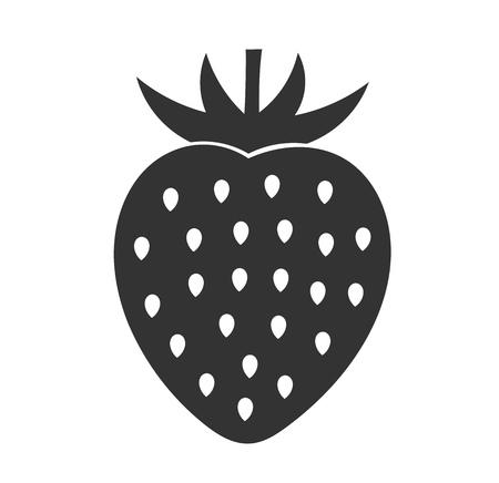 Strawberry fruit icon. Vector illustration.