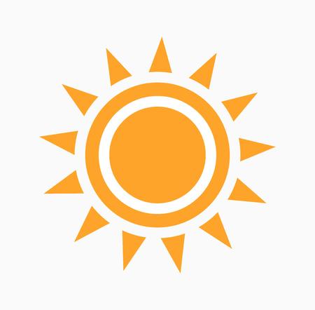 Sun abstract icon. Vector illustration.
