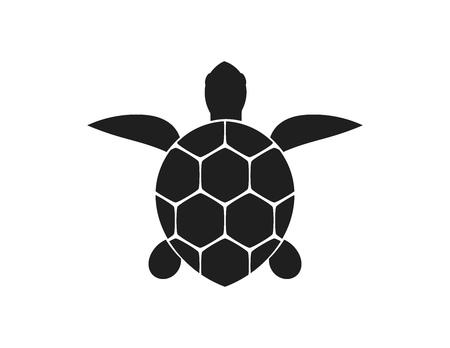 Symbol für Meeresschildkröten. Vektor-Illustration