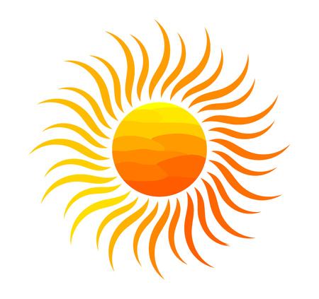 Orange sun illustration. Ilustração