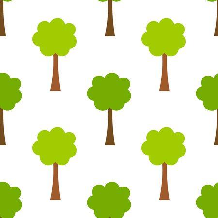 Trees seamless pattern. Vector illustration. Ilustração