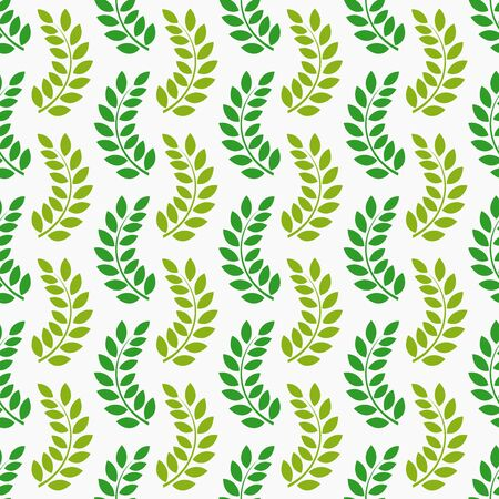 Leaves seamless pattern. Vector illustration. Vettoriali