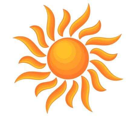 Sun shining symbol. Vector illustration. Nature icon design element.