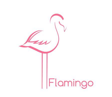 Flamingo bird shape symbol. Vector illustration