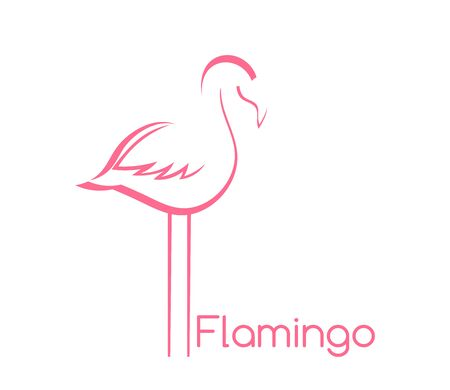 Flamingo bird shape symbol. Vector illustration