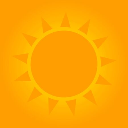 Sunny background with sun shape. Vector illustration. Illustration