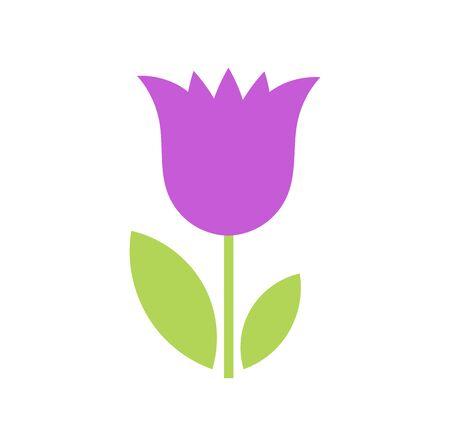 Icona del fiore di campanula viola. Illustrazione vettoriale. Vettoriali