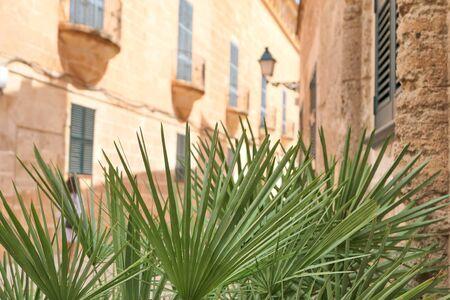 Ciutadella old town on Menorca island, Spain. Imagens