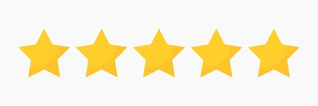 Yellow stars quality rating icon. Vector illustration. Ilustracja