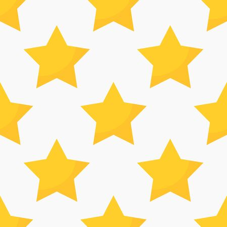 Yellow stars seamless pattern. Vector illustration Ilustracja