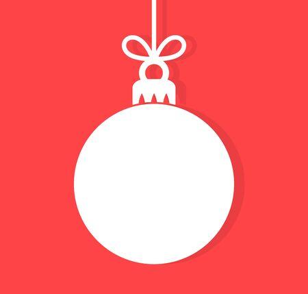 Fondo della pallina di Natale. Illustrazione vettoriale. Vettoriali