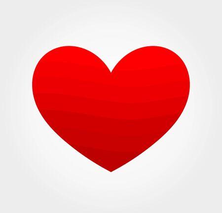 Read heart icon. Vector illustration.