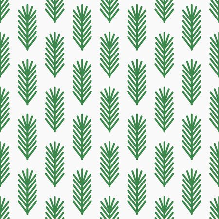 Christmas fir branches seamless retro pattern. Vector illustration.