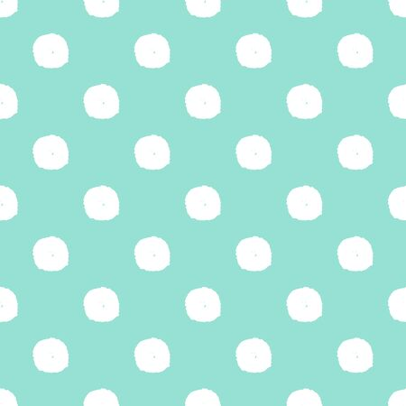Snow flakes doodle polka dot pattern. Vector illustration. Ilustracja