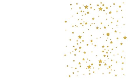 Golden stars on white background. Christmas border vector illustration. Illustration
