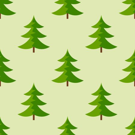 Christmas trees seamless pattern. Vector illustration. Ilustracja