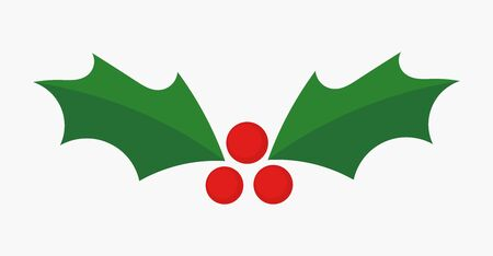 Christmas holly berries icon. Vector illustration. Ilustração