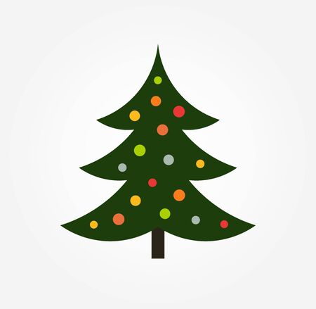 Christmas tree holiday icon. Vector illustration.