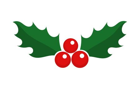 Christmas holly berry symbol icon. Vector illustration. Ilustracja