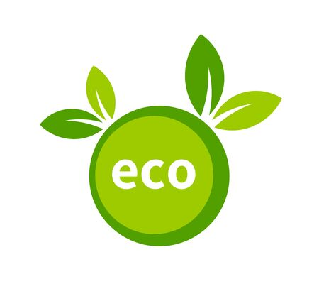 Eco friendly design element. Green ecology icon. Vector illustration.