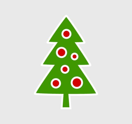 Christmas tree icon. Vector illustration. Ilustracja