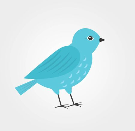Blue bird icon, flat design vector illustation.
