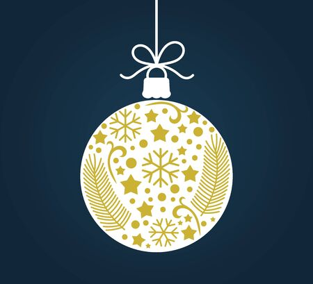 Christmas ball ornament decoration. Vector illustration