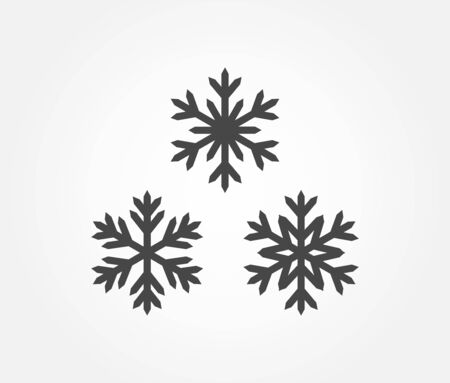Three snowflakes icons. Vector illustration. Ilustracja