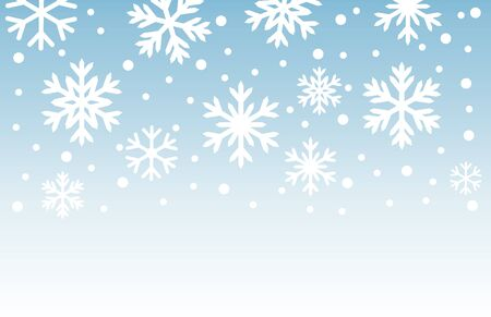 Snowflakes winter background. Vector illustration.