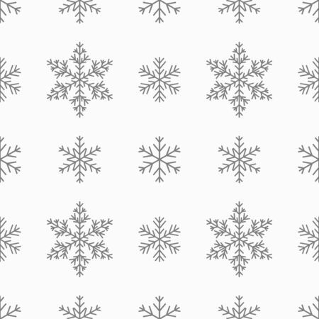 Snowflakes grey seamless pattern. Vector illustration.