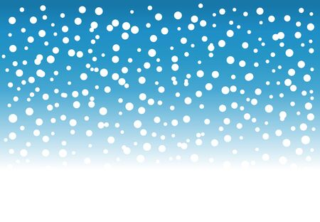 Falling snow winter background. Vector illustration.